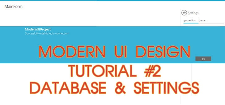 Download Modern UI Design – Database and Settings