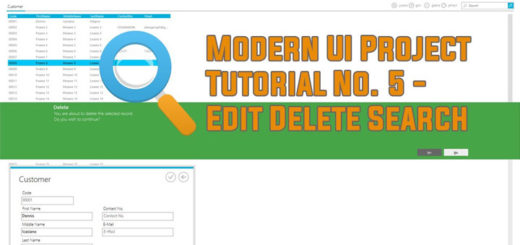 Modern UI Project Tutorial No 5 - Edit Delete Search Function
